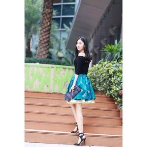 💫 Host Pick 🦋 Premium Silk Embroidery Skirt